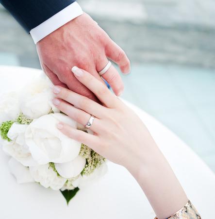 Фото колец на руках свадьба